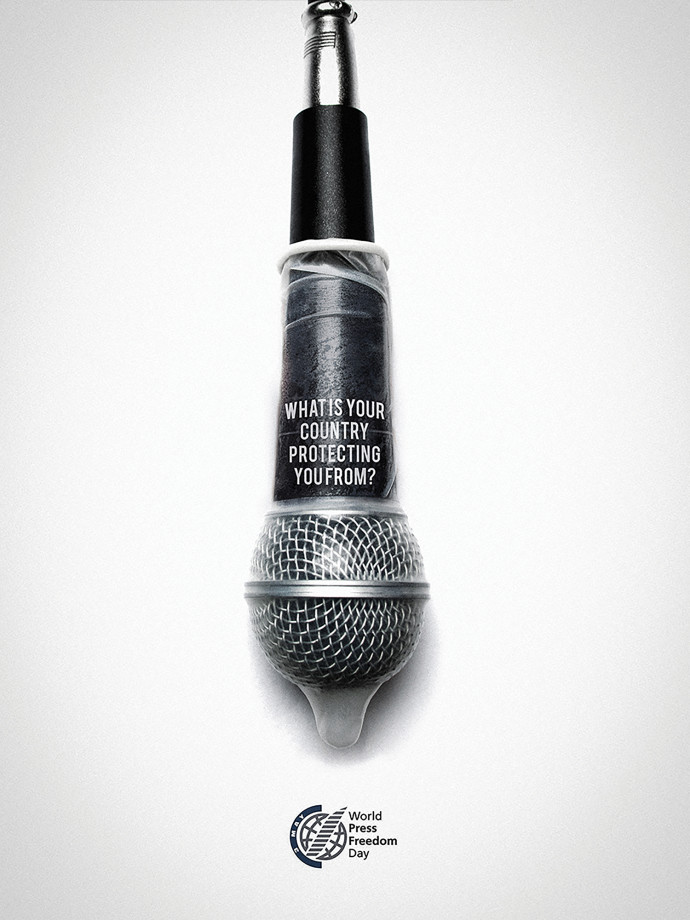 World press freedom day: Microphone