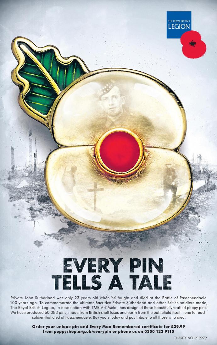 The Royal British Legion: Every pin tells a tale.