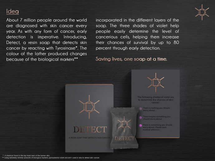 Detect: A resin soap that detects skin cancer