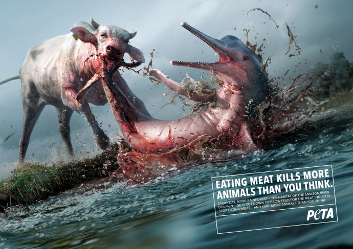 Ad of the Day | PETA Germany: Killer Cows, 1