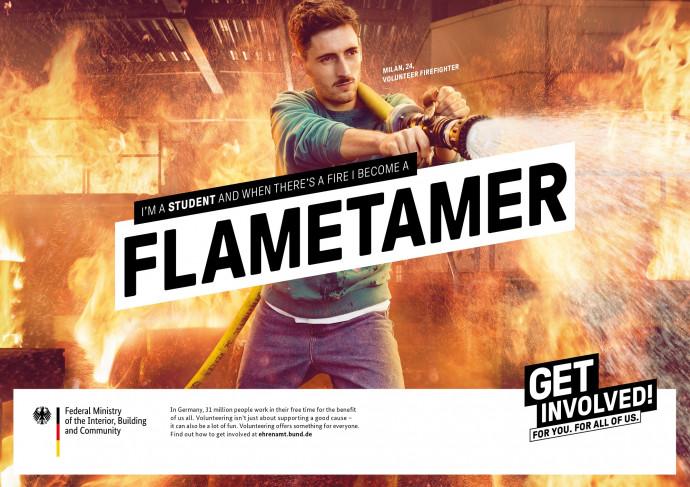 Volunteers Germany: Get involved (Flametamer)
