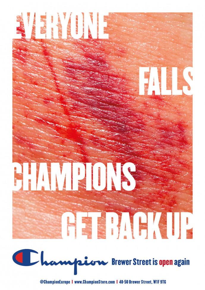 Champion: Everyone Falls. Champions Get Back Up, 1