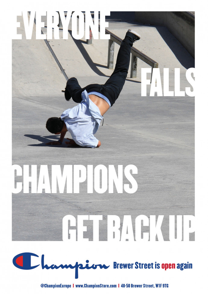 Champion: Everyone Falls. Champions Get Back Up, 2