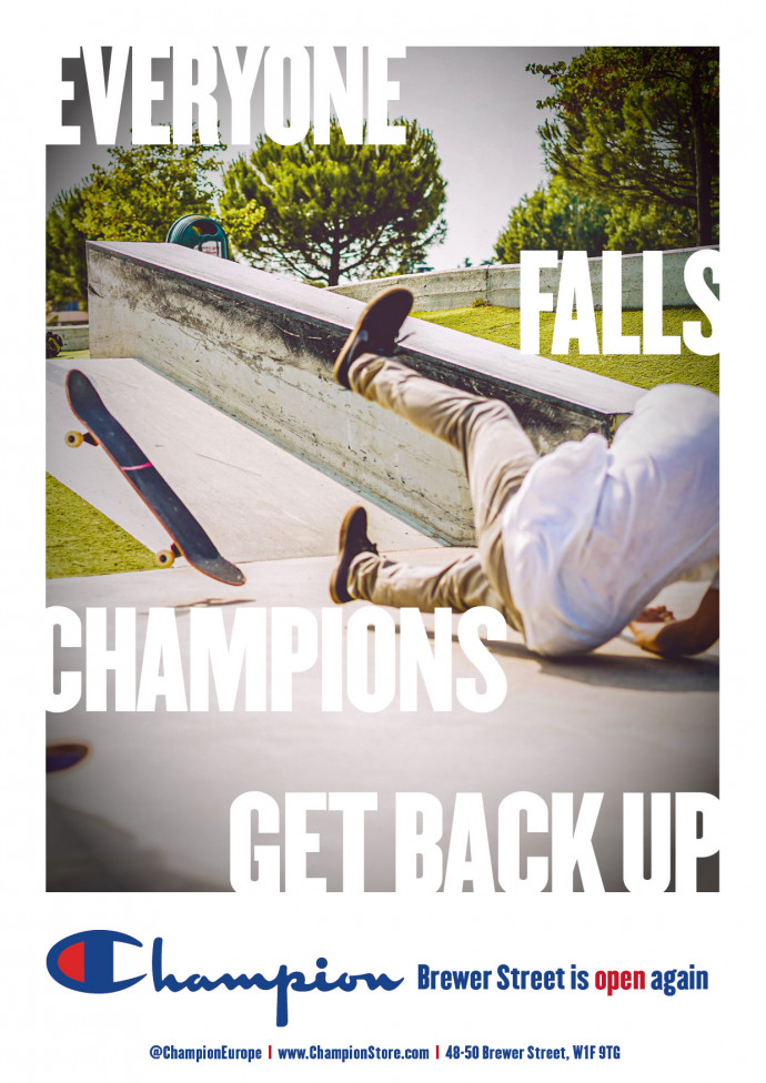 Champion: Everyone Falls. Champions Get Back Up, 6