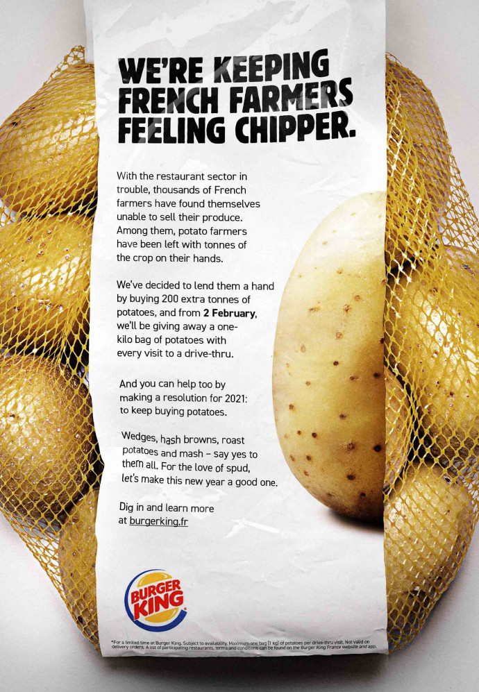 Ad of the Day | Burger King: Kilo of Potatoes
