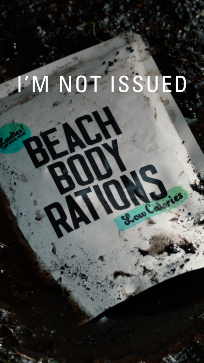 British Army: I'm Not Issued Beach Body Rations