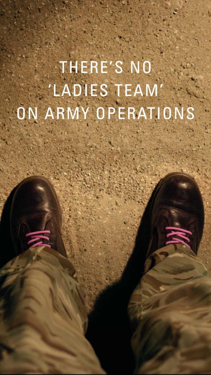British Army: There's No Ladies Team