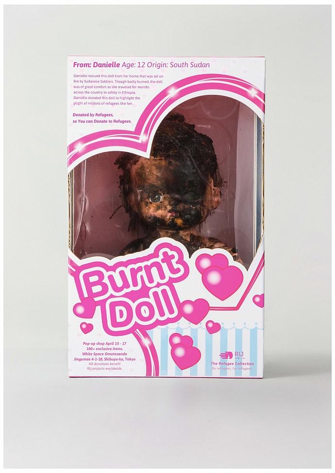Refugees International Japan: Burnt doll