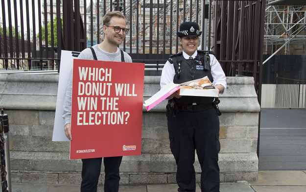 """Which Donut will win the election?"" asks Dunkin' Donuts in cheeky 'Snack Election' campaign"