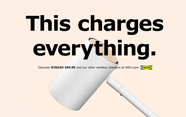 This new wireless​ charger from IKEA ​charges​ ​everything