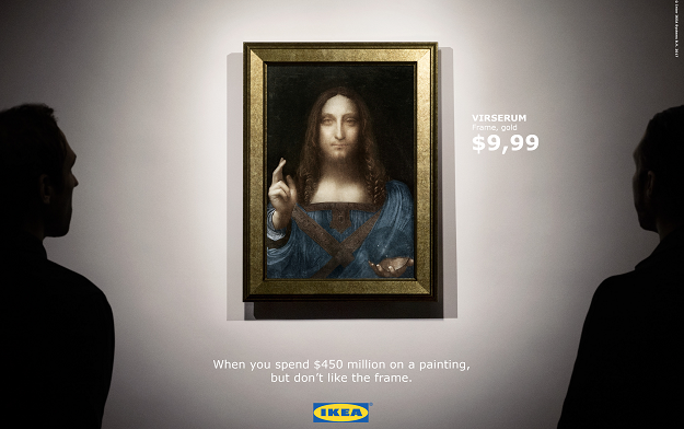 IKEA's​ ​responding ​to​ ​the​ ​world's​ ​most expensive​ ​painting.