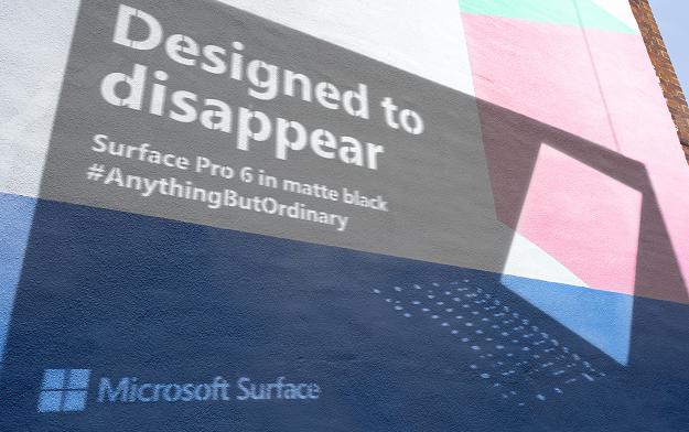 mccann london creates shadow posters to launch microsoft s new matte