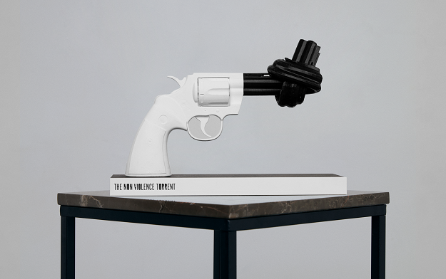 Non-Violence floods the 3D-printed gun market with a peaceful message