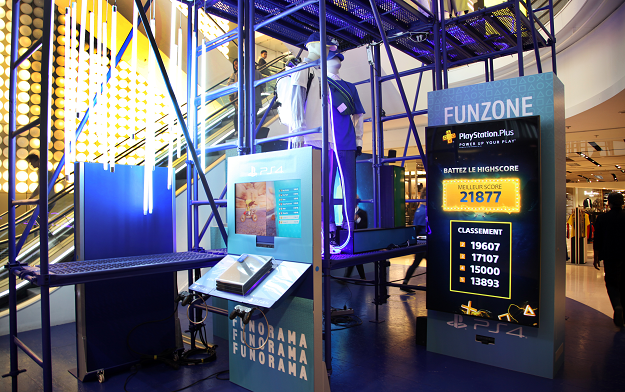 Playstation and Biborg Create Fun Zone in The Heart of Paris Galeries Lafayette