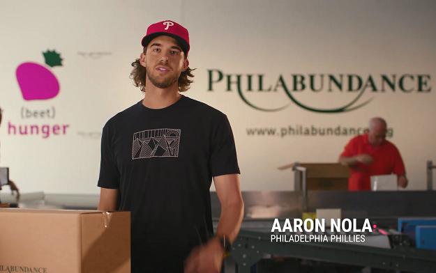 TCEG creates high profile hunger awareness campaign with Philadelphia Sporting Heroes Lane Johnson and Aaron Nola