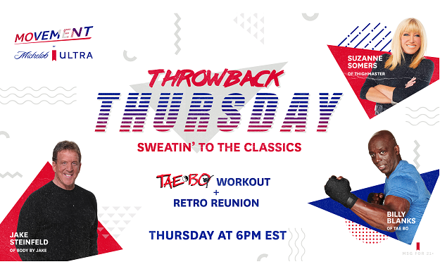 "The At-Home Workout Icons will Come Together for a one-of-a-kind ""ULTRA Throwback Thursday"""