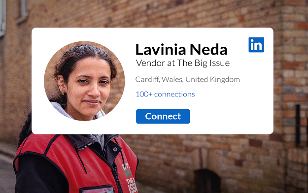 LinkedIn Helps Big Issue Vendors Reconnect with Customers Online